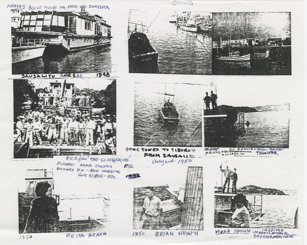 The process of floating Dorothea | Courtesy of the Environmental Design Archives at UC Berkeley