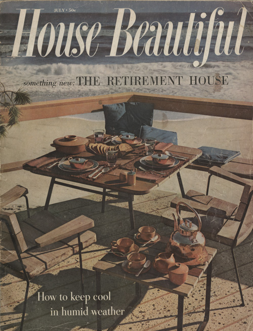 House Beautiful cover with Heath dinnerware | Courtesy of the Environmental Design Archives at UC Berkeley