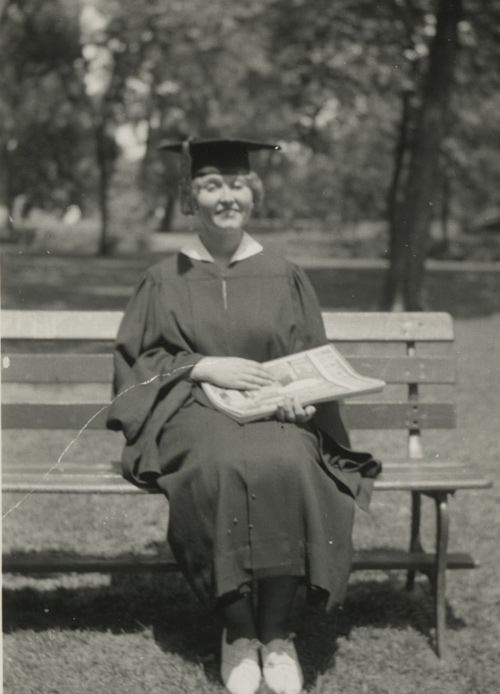 Edith Heath on her graduation day | Courtesy of the Environmental Design Archives at UC Berkeley