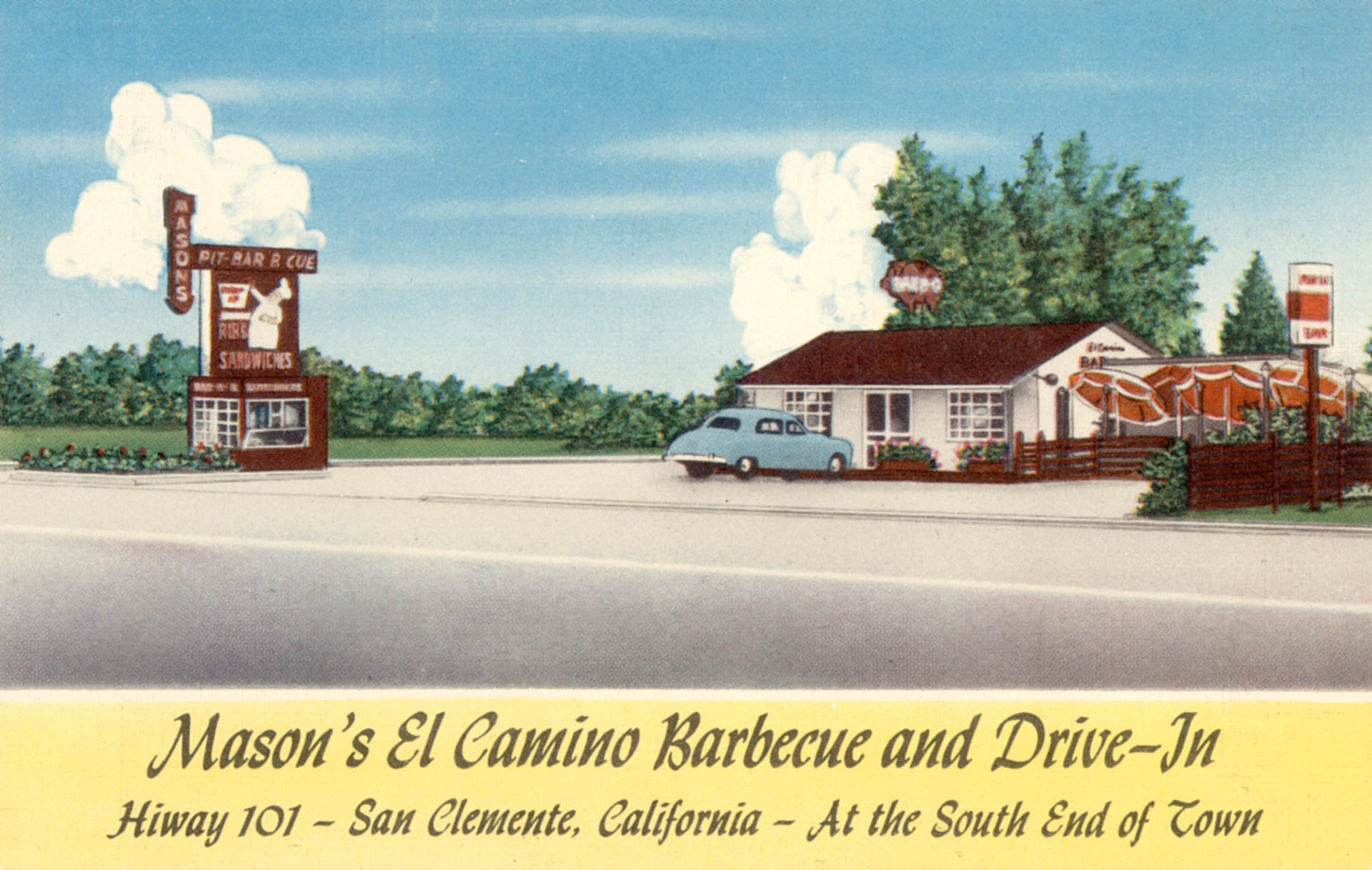 Numerous roadside businesses served motor tourists traveling along the modern-day El Camino Real