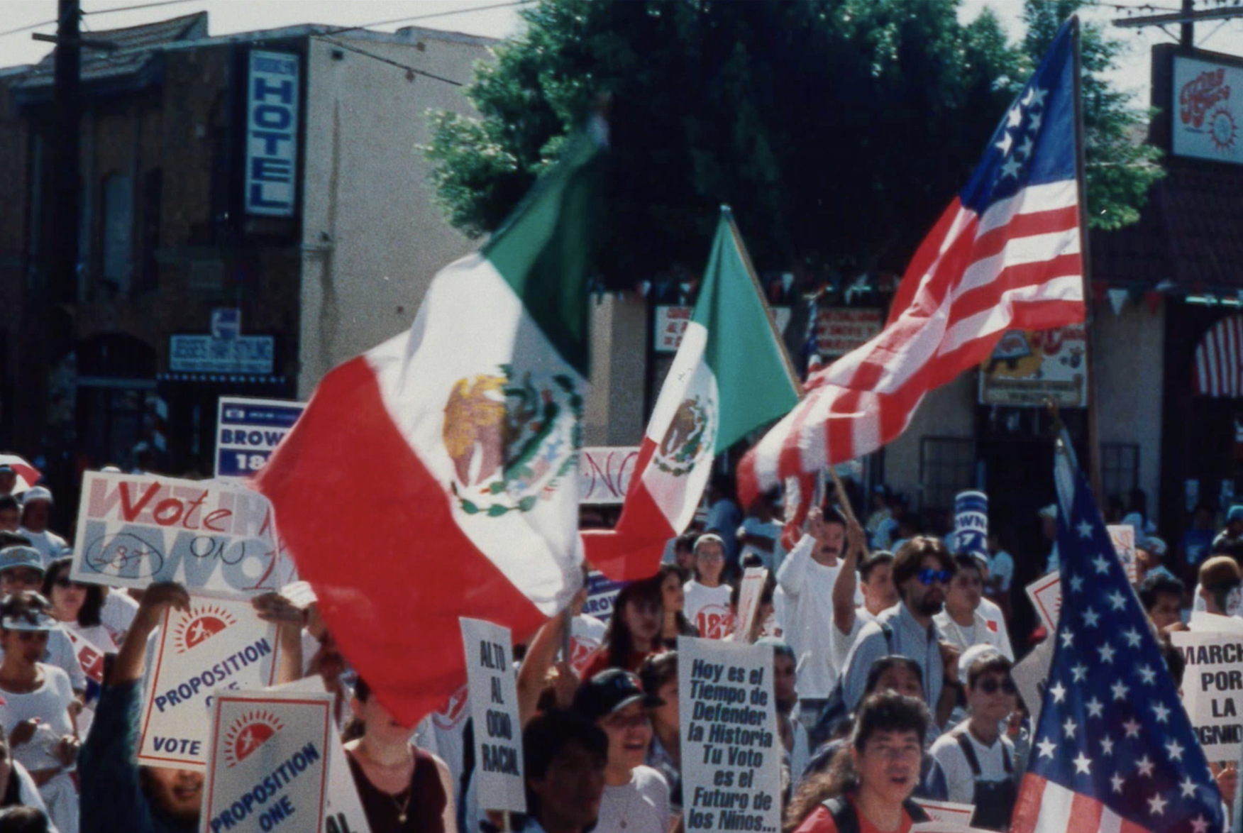 Protesters featured in 187: THE RISE OF THE LATINO VOTE