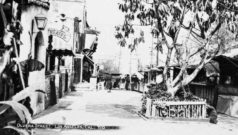 A view down Olvera Street | Security Pacific National Bank Photo Collection, the Los Angeles Public Library