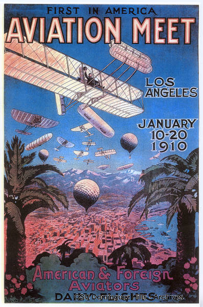 Large color poster of the 1910 Air Meet | Courtesy of CSUDH