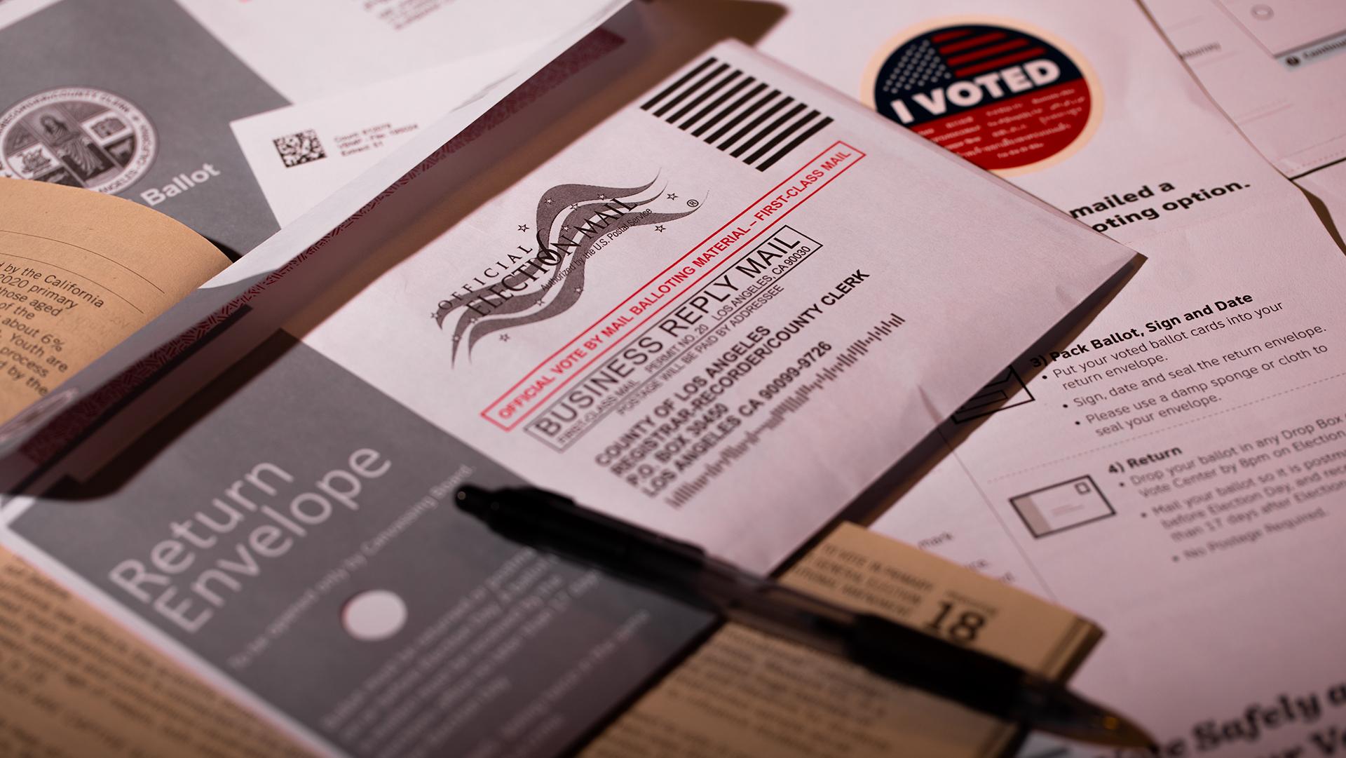 Los Angeles California, October 8, 2020: Voting ballot material. | Jorge Villalba / iStock