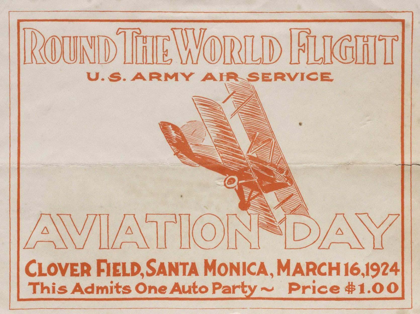 1924 circumnavigation ticket
