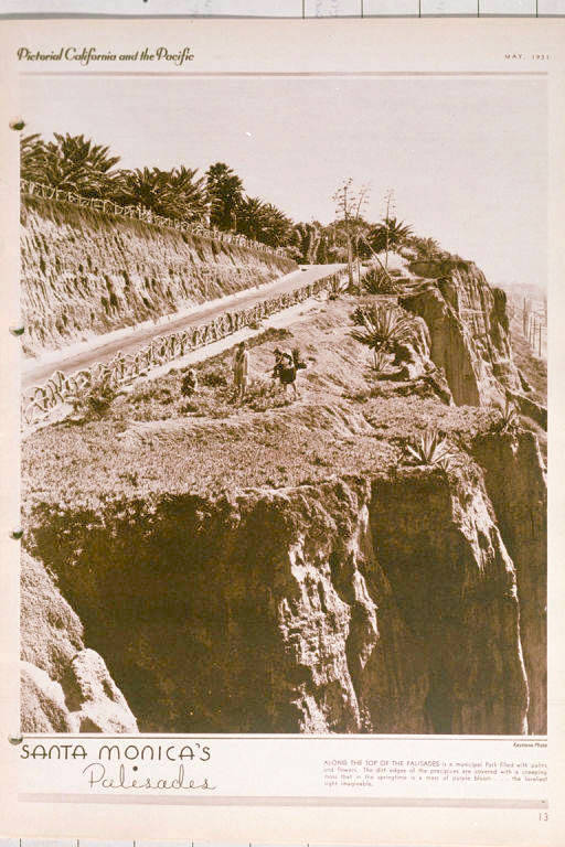 This 1928 photo of the California Incline shows the sandstone bluffs that eventually crumbled away beneath the roadway.