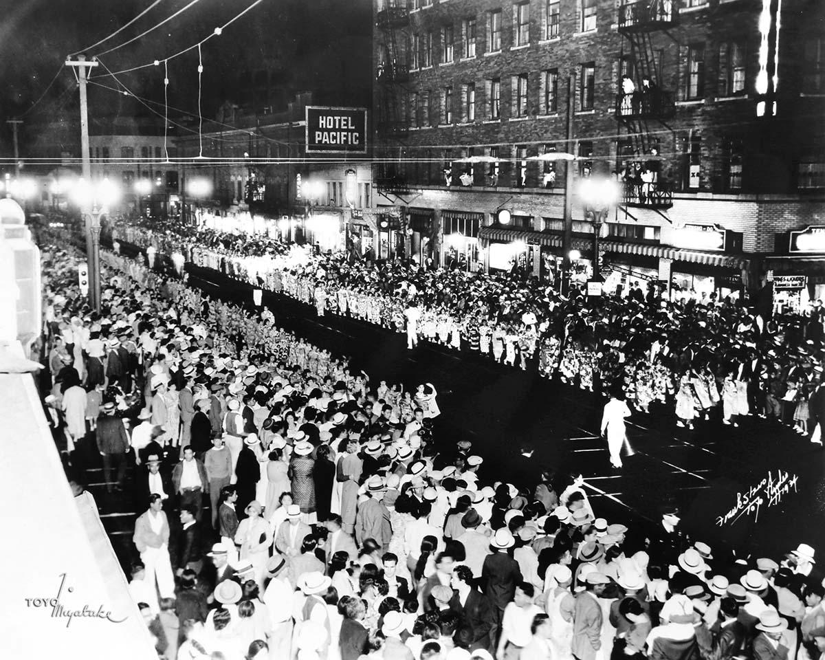 The 1934 Nisei Week Parade | Courtesy of Toyo Miyatake Studio