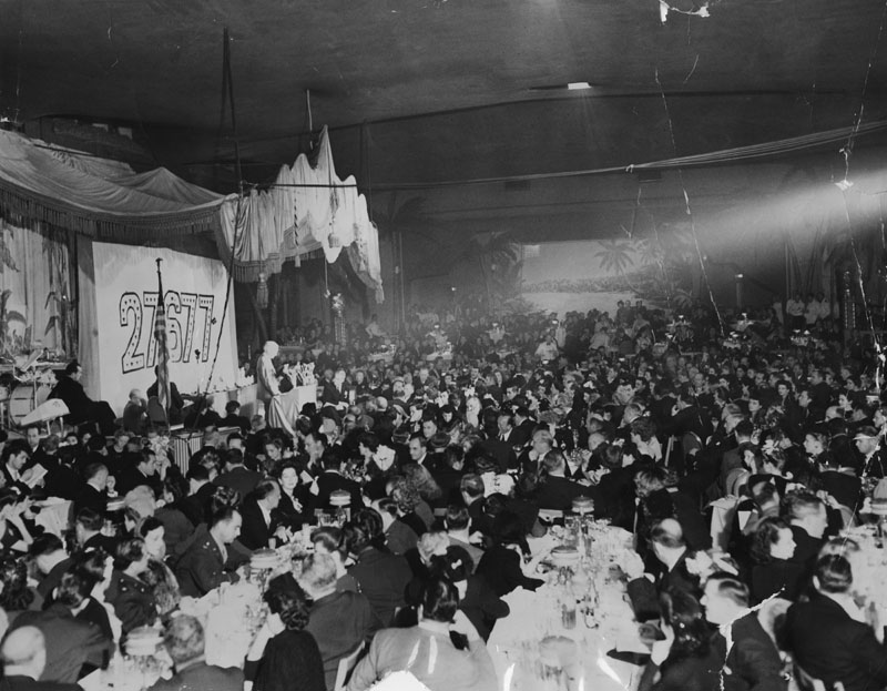 The 1943 Academy Awards banquet at the Ambassador Hotel