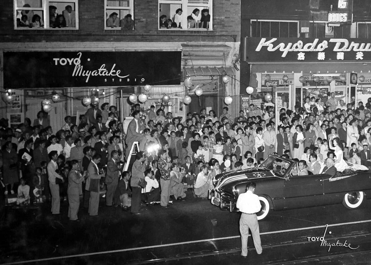 The Toyo Miyatake studio as seen during the 1949 Nisei Week Parade | Courtesy of Toyo Miyatake Studio