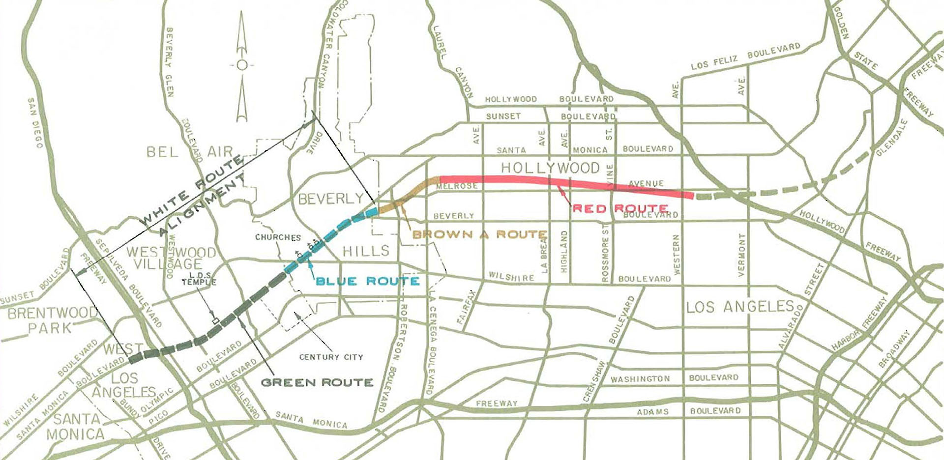 Beverly Hills Freeway route