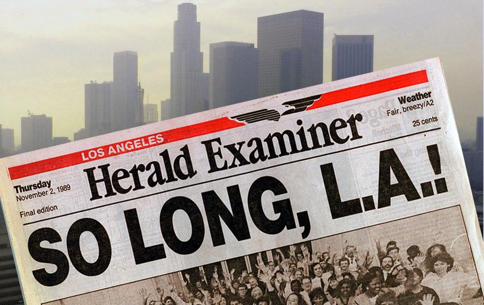 Final Edition of Herald Examiner