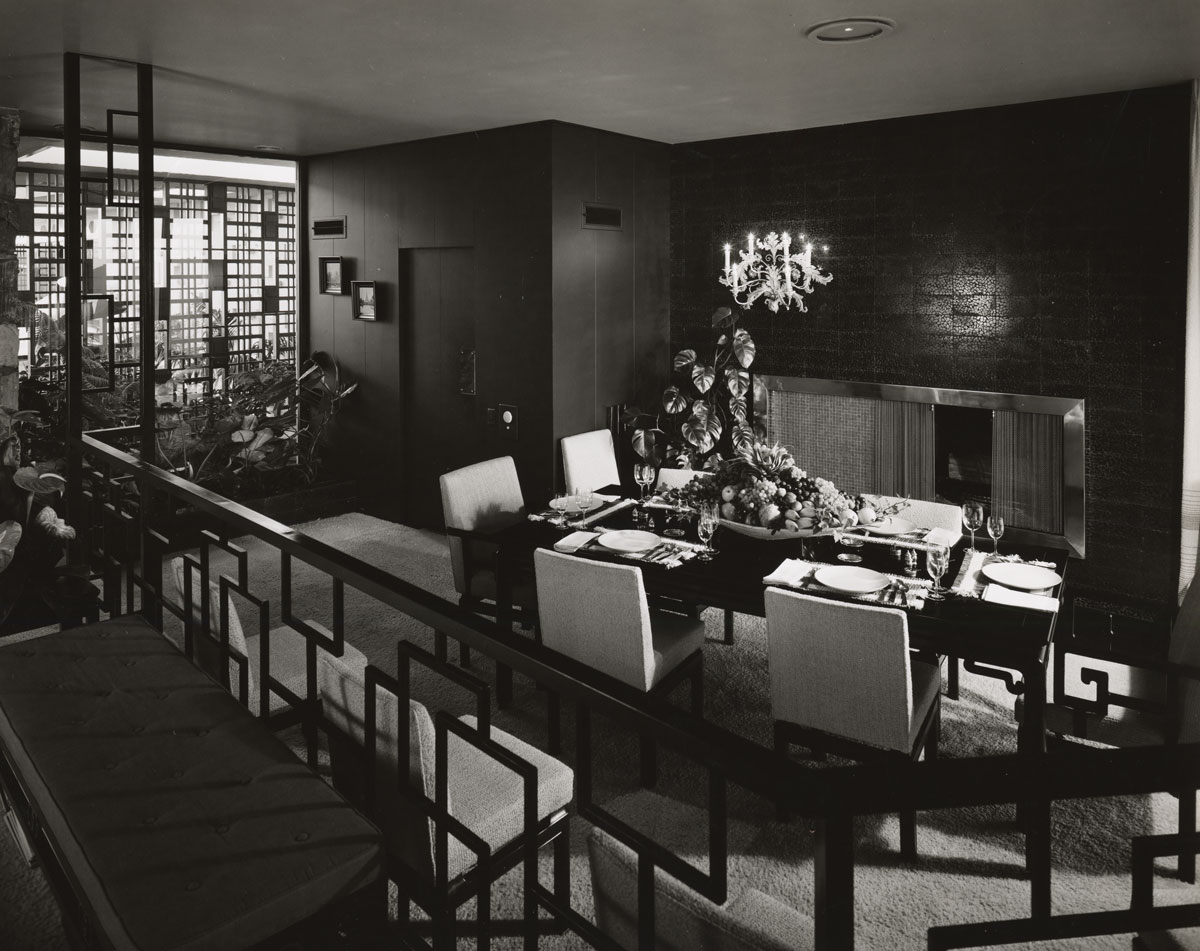 Interior of the Frank Sinatra Residence by Paul R. Williams | Mott-Merge Collection, California State Library