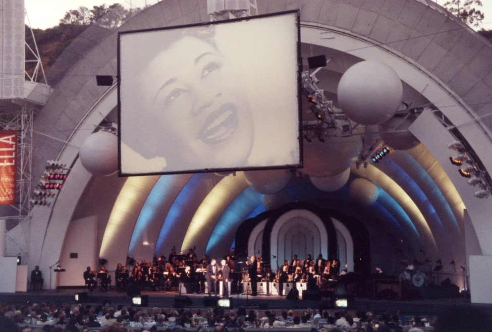 Produced for the Los Angeles Philharmonic Association by Festival Productions. This gala concert celebrating Ella Fitzgerald benefitted the Hollywood Bowl Fund. | Los Angeles Philharmonic Archives