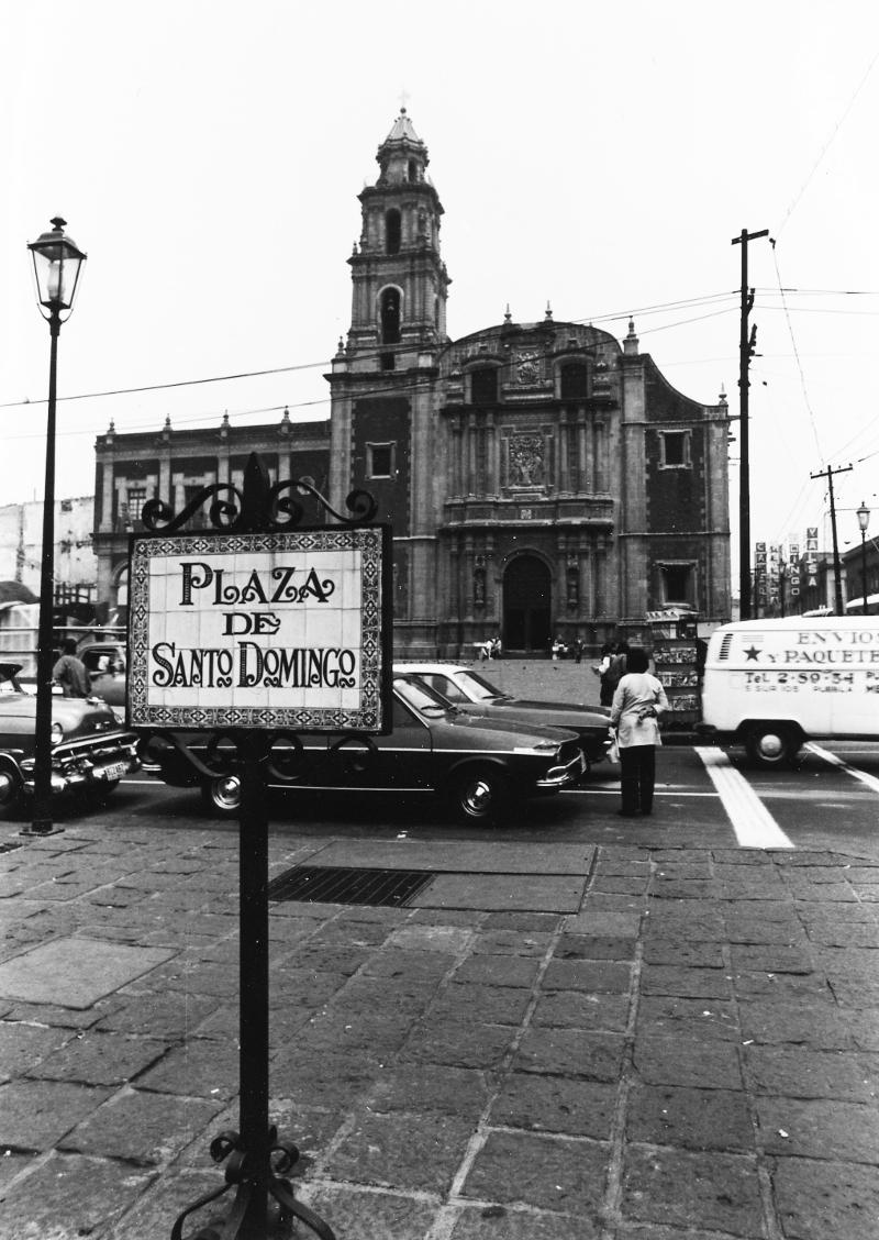 Plaza de Santo Domingo, where Taller de Grafica Mexicana was originally located.