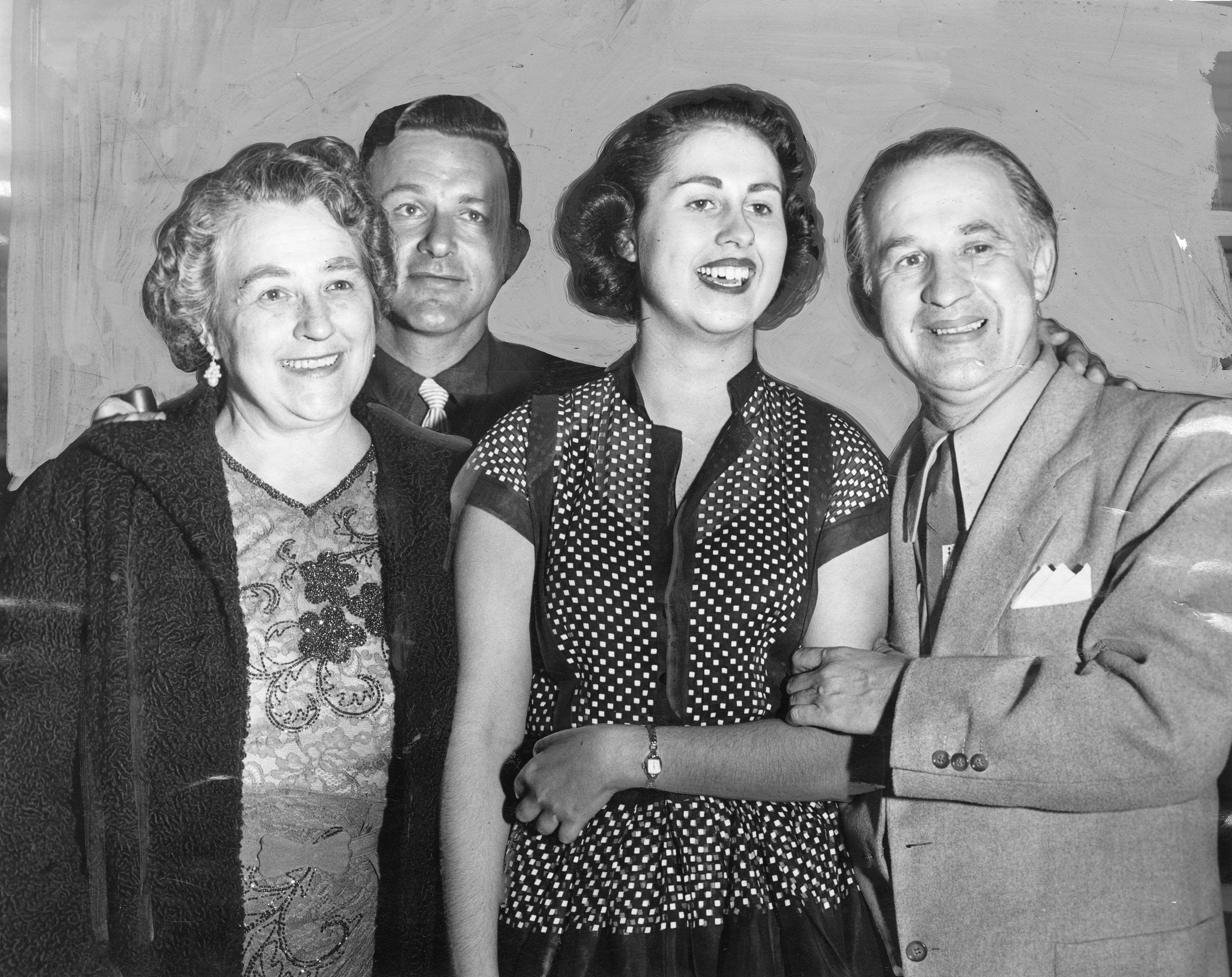 Newly elected councilwoman Rosalind Weiner with her family. LA Herald Examiner Photo Collection, Los Angeles Public Library