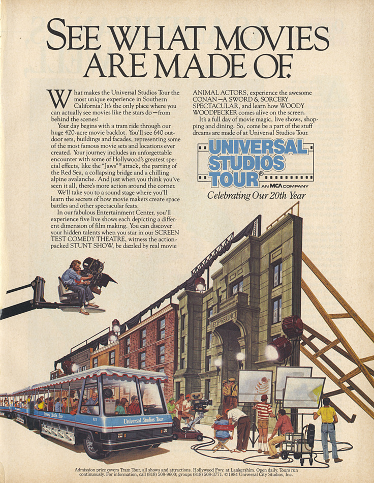 Universal Studios Hollywood ad