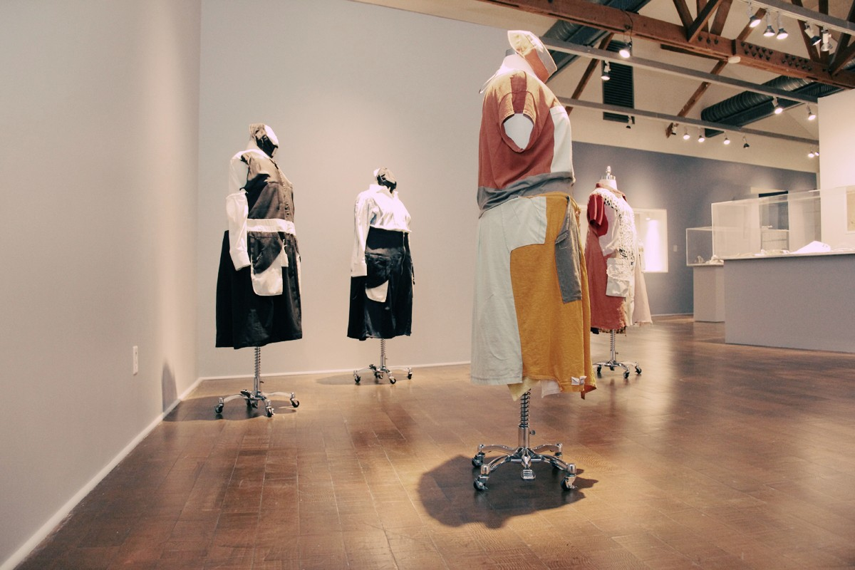 Frau Fiber's Uniforms. Social Fabric exhibition | Craft and Folk Art Museum, 2013