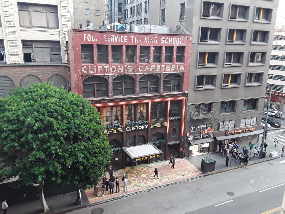 Clifton's Cafeteria exterior. | Sandi Hemmerlein
