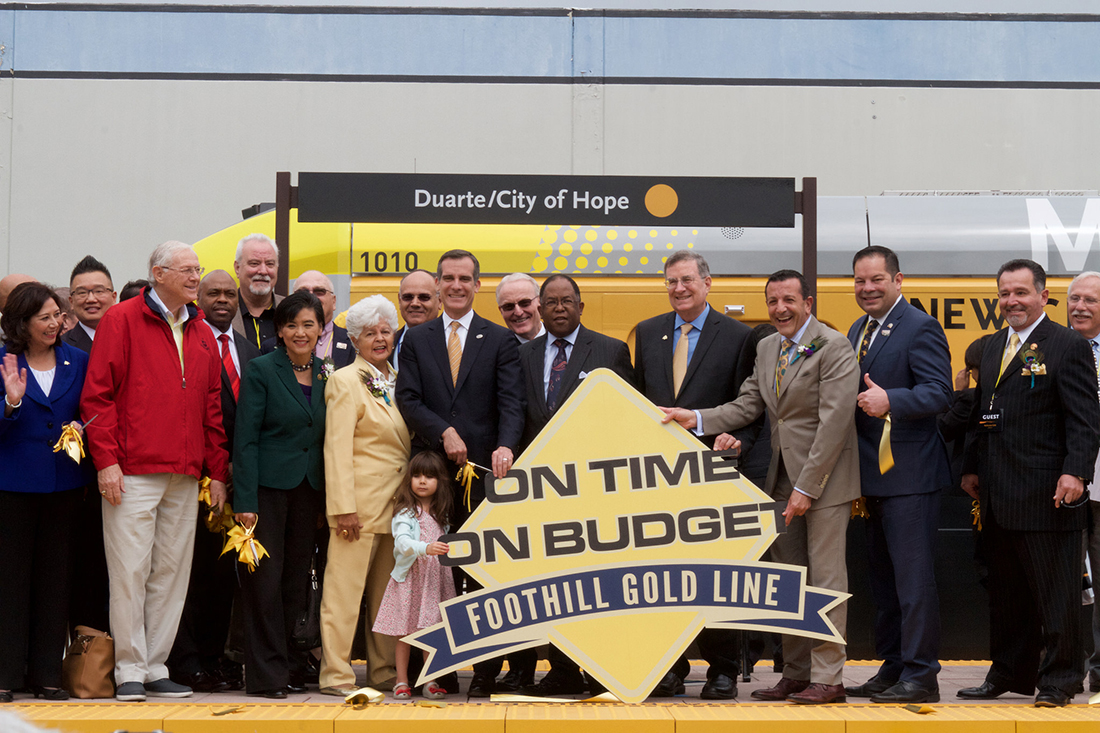 Los Angeles' Metro opening ceremony for Foothill Gold Line opening on March 5, 2016. | Metro - Los Angeles/Flickr/Creative Commons