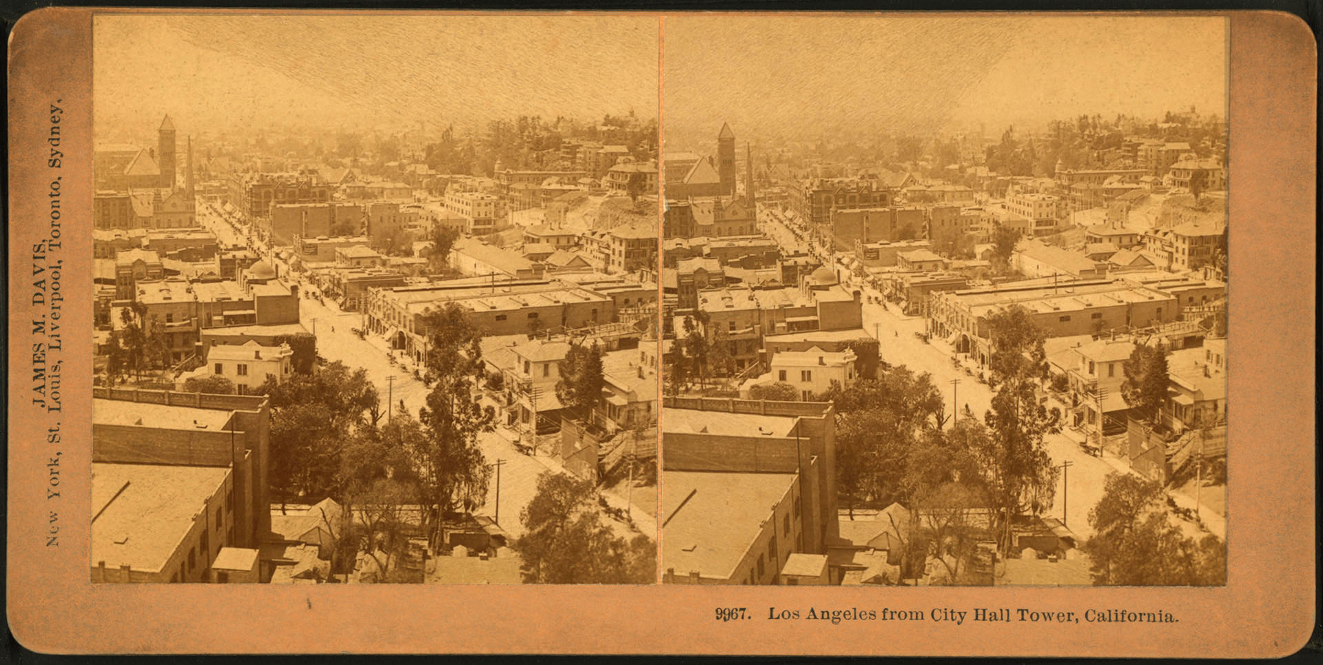 1880 view of Los Angeles from the tower of its City Hall