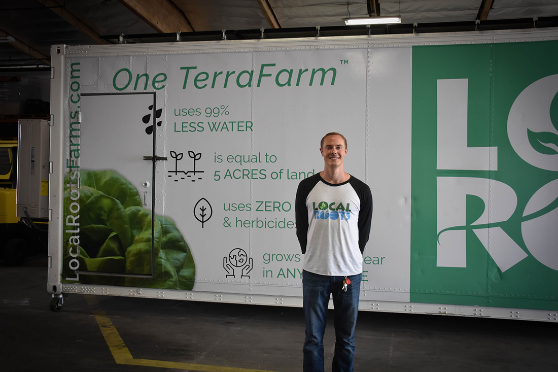 Eric Ellestad with on of his TerraFarms | Clarissa Wei
