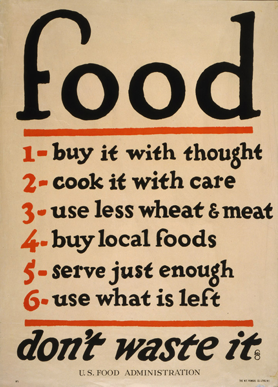 Food--don't waste it | Courtesy of the Library of Congress
