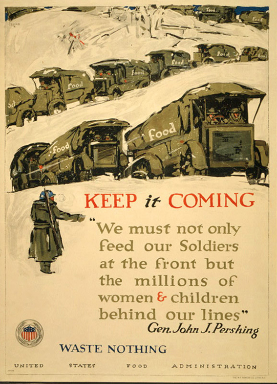 Keep it coming - waste nothing | Courtesy of the Library of Congress