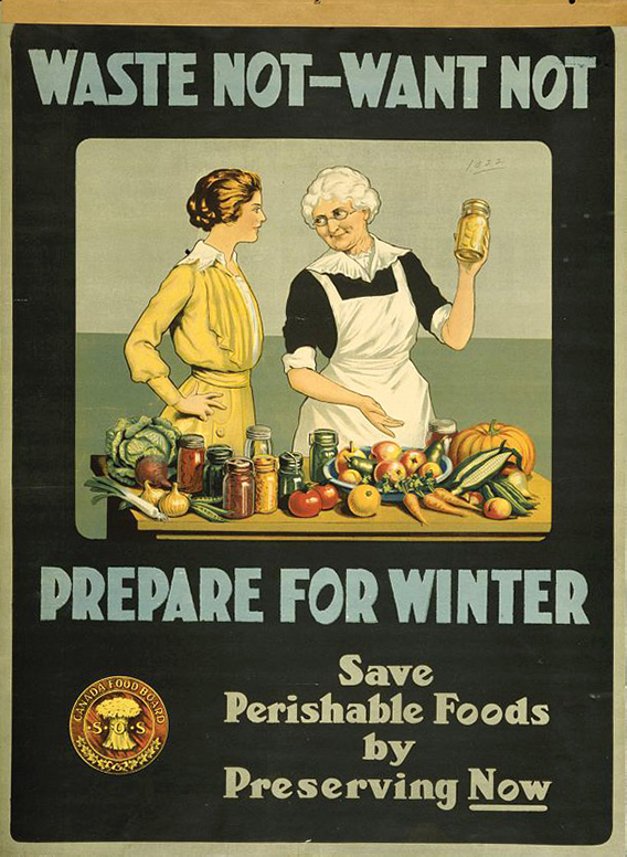Waste not, want not - prepare for winter | Courtesy of the Library of Congress