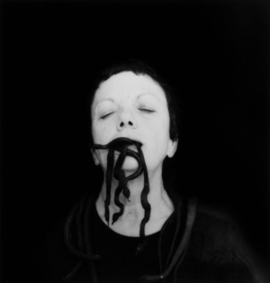 Autorretrato con serpientes, Oaxaca, México, 2006 (Self-Portrait with Snakes, Oaxaca, Mexico) Gelatin silver print 16 × 20 in. | © Graciela Iturbide - Graciela Iturbide exhibition PST LA/LA