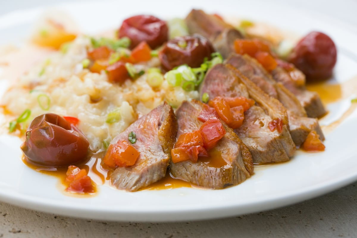 Jambalaya Risotto with Duo of Duck   Carla Choy