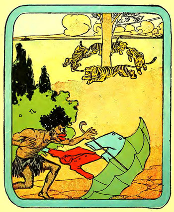 "Illustration from ""The Story of Little Black Sambo"""