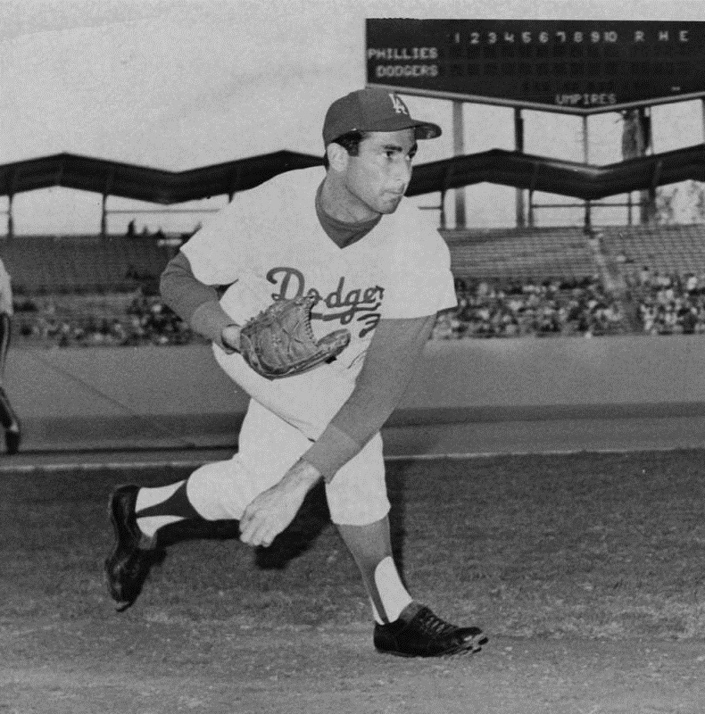 Sandy Koufax pitched 12 seasons for the Dodgers from 1955 to 1966. LA Herald Examiner Photo Collection, Los Angeles Public Library