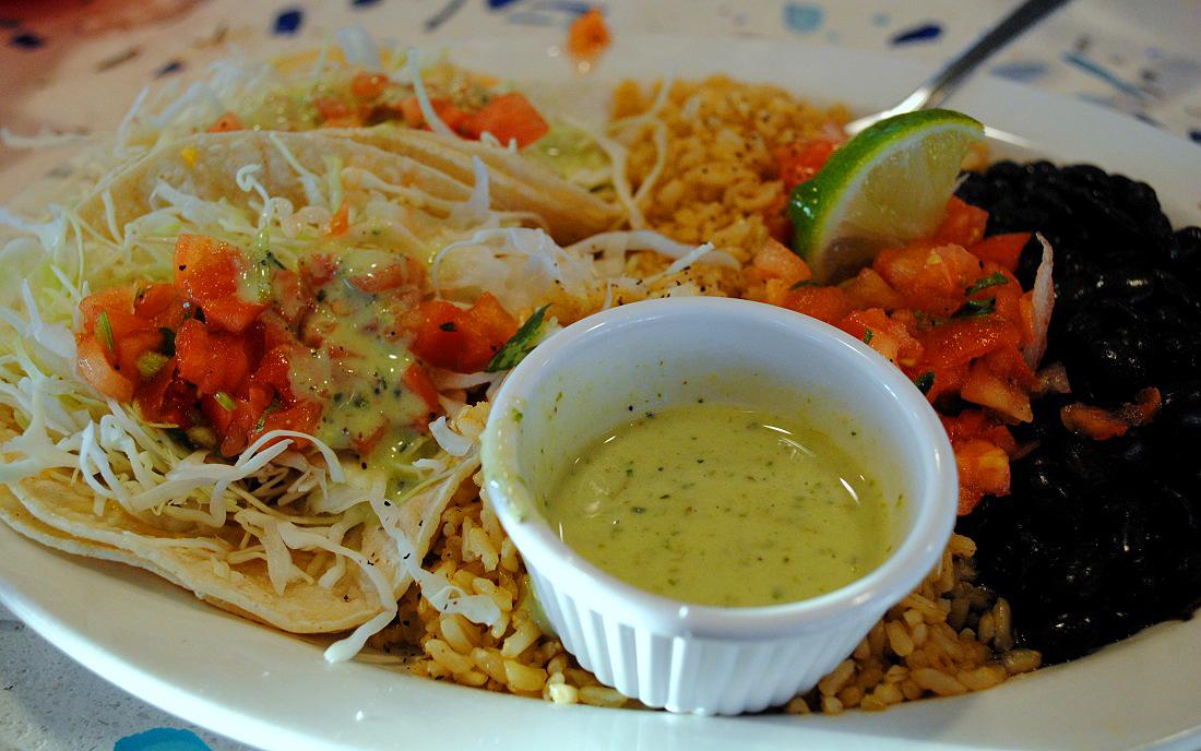 Wahoo fish taco