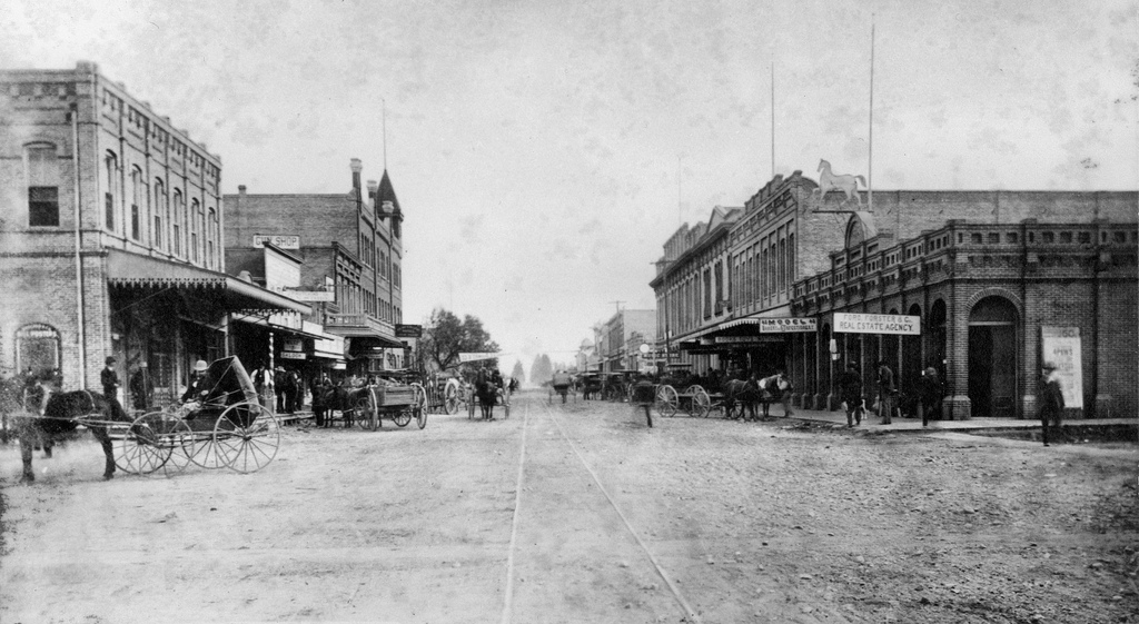 Santa Ana in 1889, the year it led a successful campaign to create Orange County. Courtesy of the Orange County Archives.