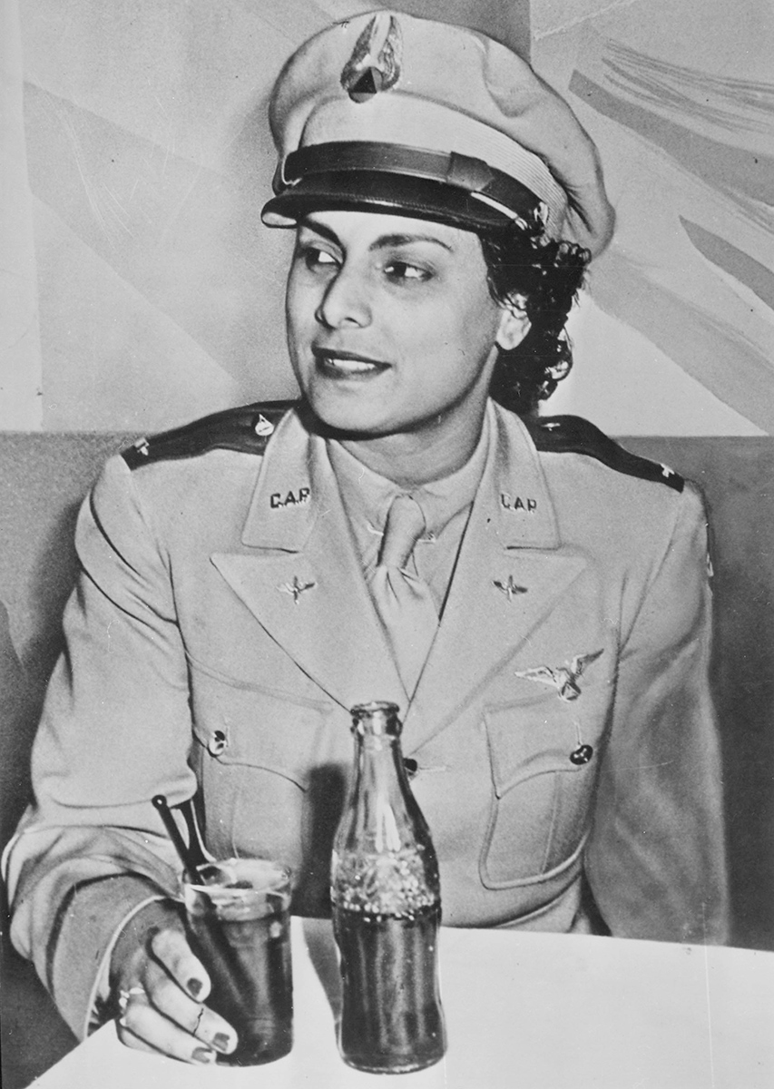 """Willa Brown, circa 1941, was the first African American woman to receive a commission as a lieutenant in the U.S. Civil Air Patrol."""" 