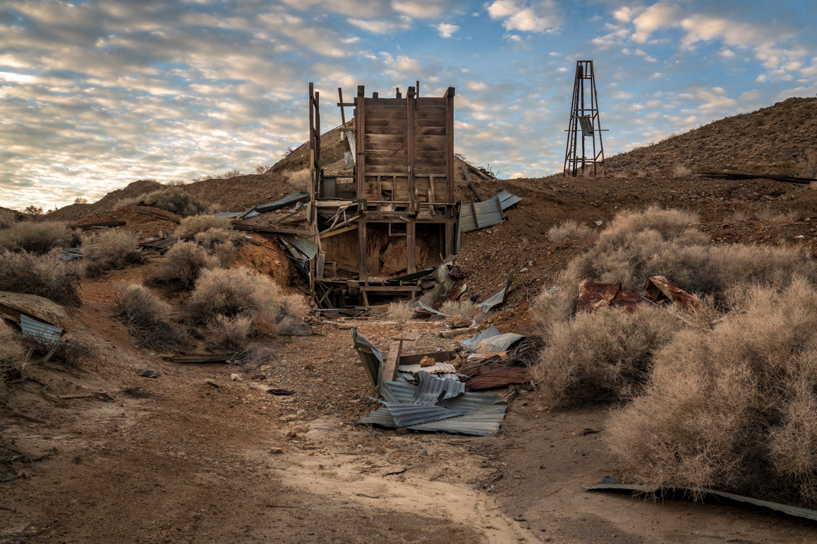 The Consolidated Mine adjacent to Tom O'Donnell's home in Randsburg, California. A couple of old timers worked this underground mine into the 1980s. It has been shuttered since. | Kim Stringfellow.