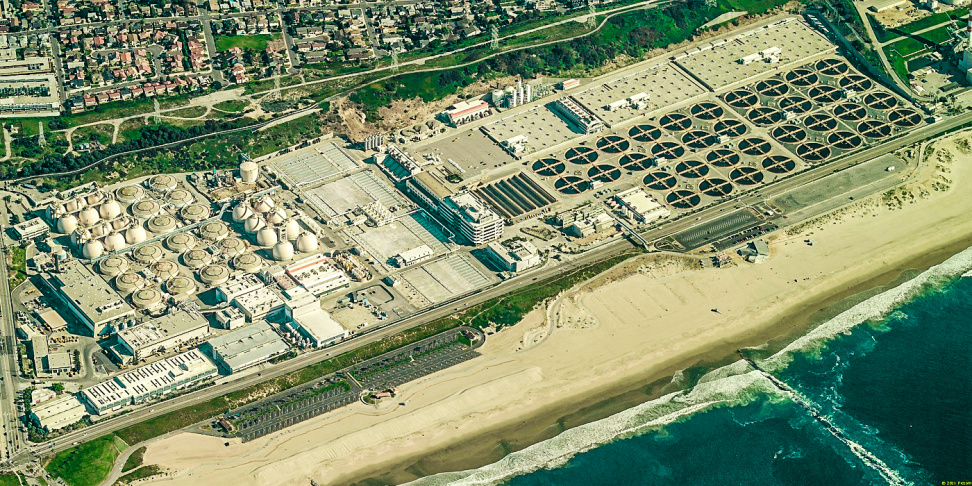 Located near LAX and Dockweiler Beach, the Hyperion Water Reclamation Plant is L.A.'s oldest and largest wastewater treatment facility. | Courtesy Mayor Eric Garcetti's office