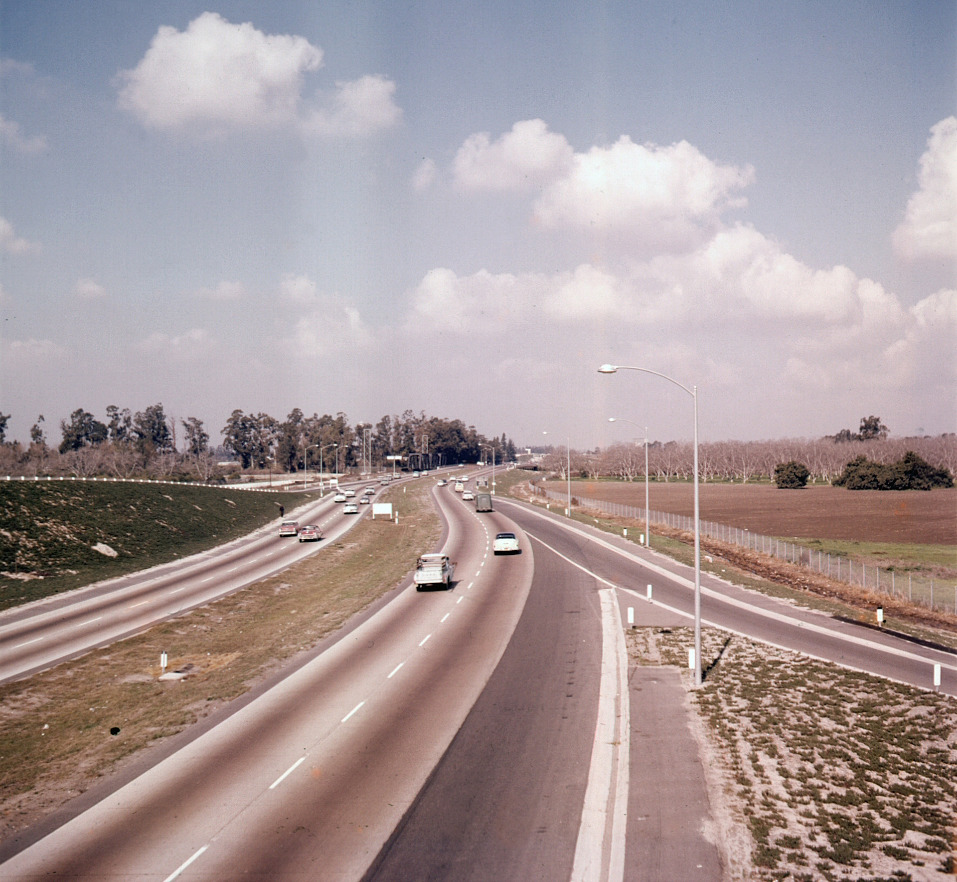 Santa Ana Freeway in Tustin, circa 1960