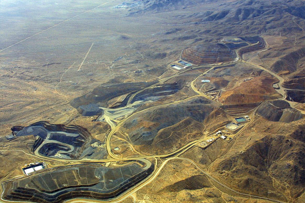 A bird's eye view of the Rand Mining Company (RMC) while still operational during 1980s – early 2000s. | Courtesy of BLM.