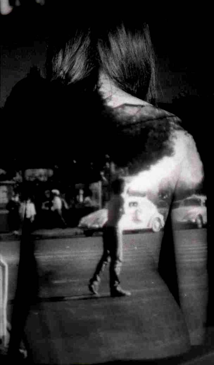 """""""Re-Membering: Tenochtitlan"""" (1995), performative self portrait, black and white photo, 1999   Sandra de la Loza"""