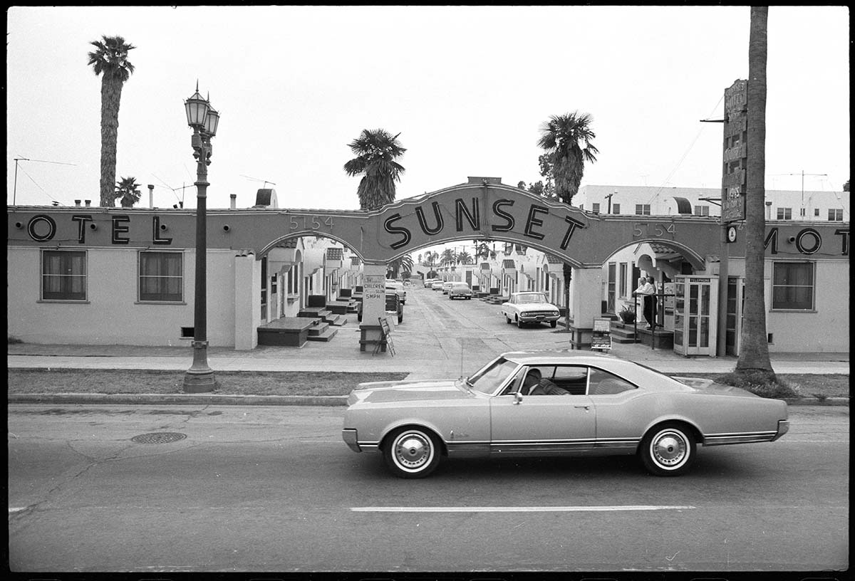 From Sunset Blvd, 1966, Ed Ruscha. | Streets of Los Angeles Archive. The Getty Research Institute,2012.M.1. © Ed Ruscha