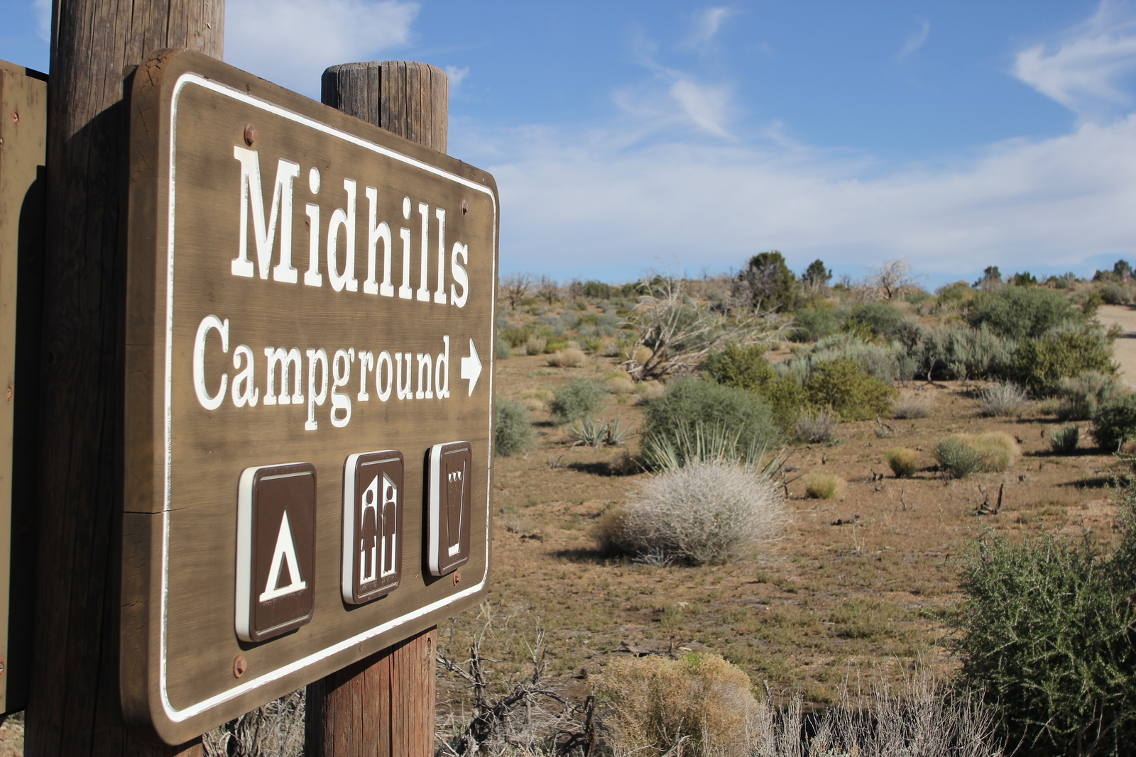 Midhills Campground area in 2012