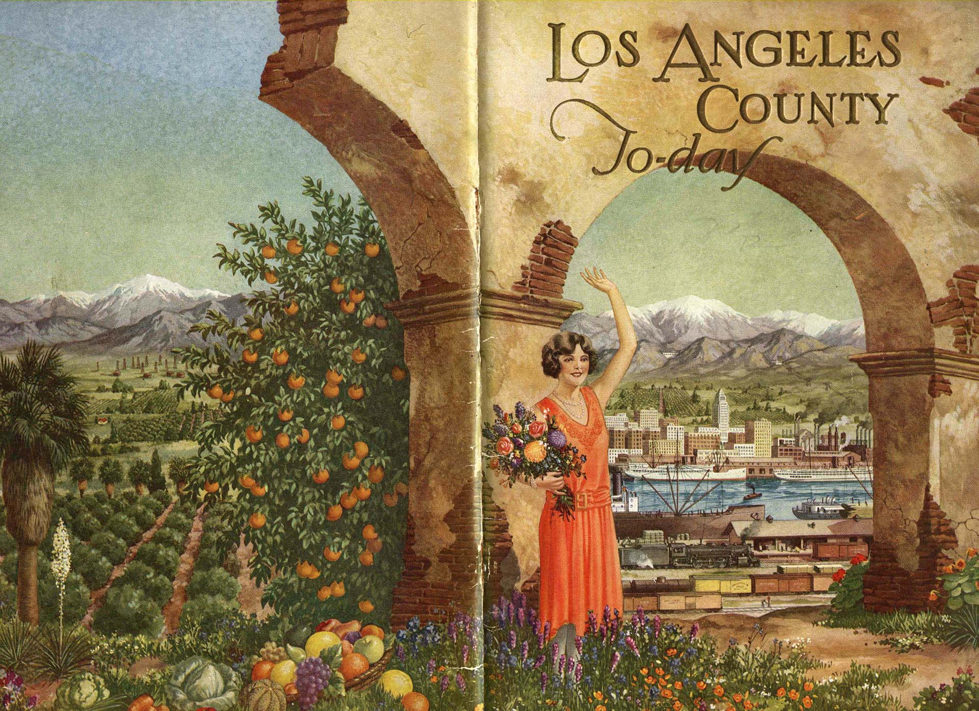 A 1929 brochure of the Los Angeles Chamber of Commerce, courtesy of the Oviatt Library, Cal State Northridge