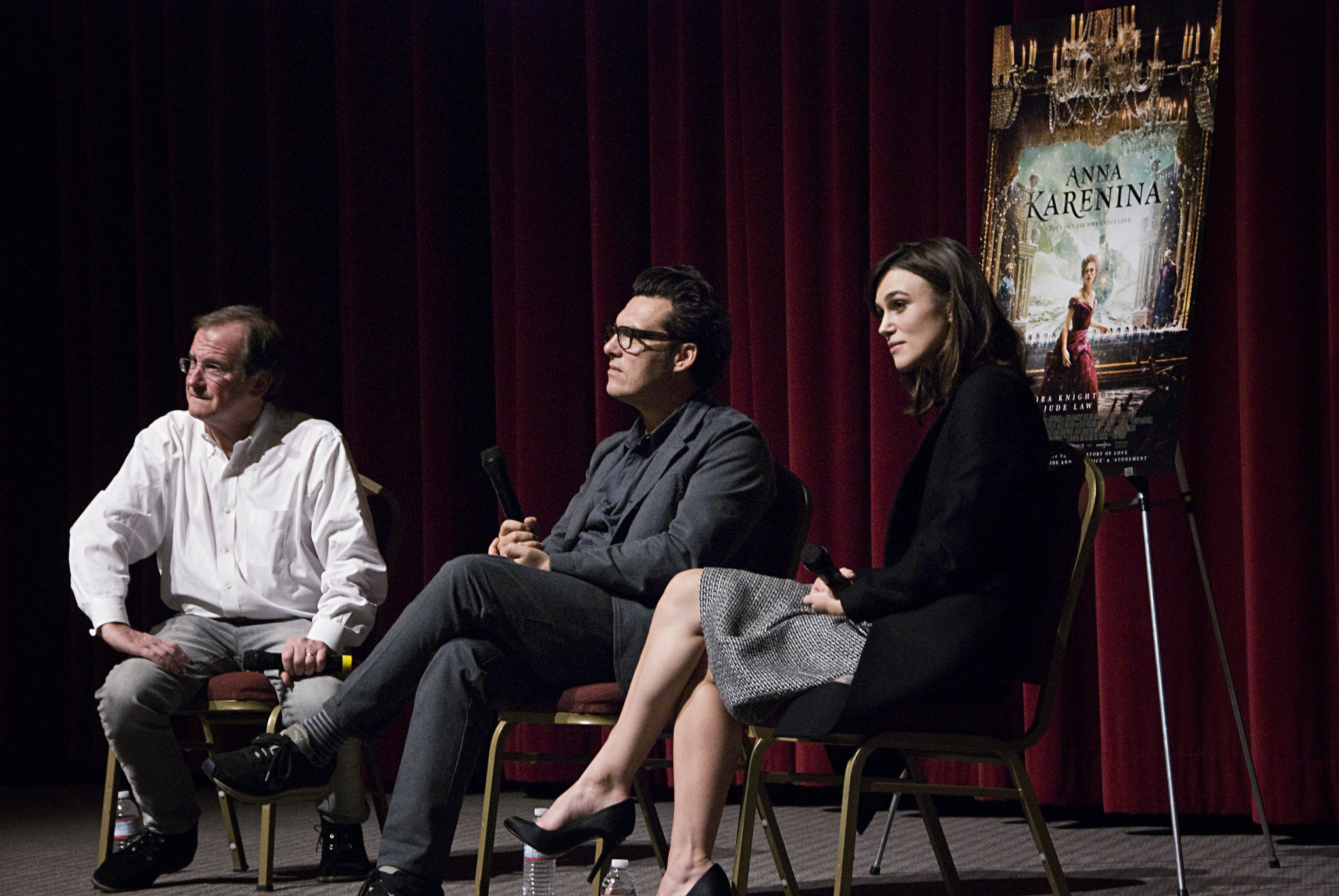"Director Joe Wright and star Keira Knightley answered audience questions at the November 13, 2012 KCET Cinema Series screening of Leo Tolstoy's ""Anna Karenina."""