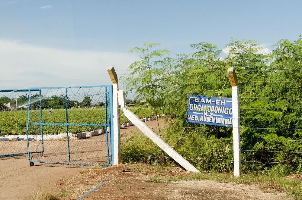 Entrance to the Organic Farm in Havana