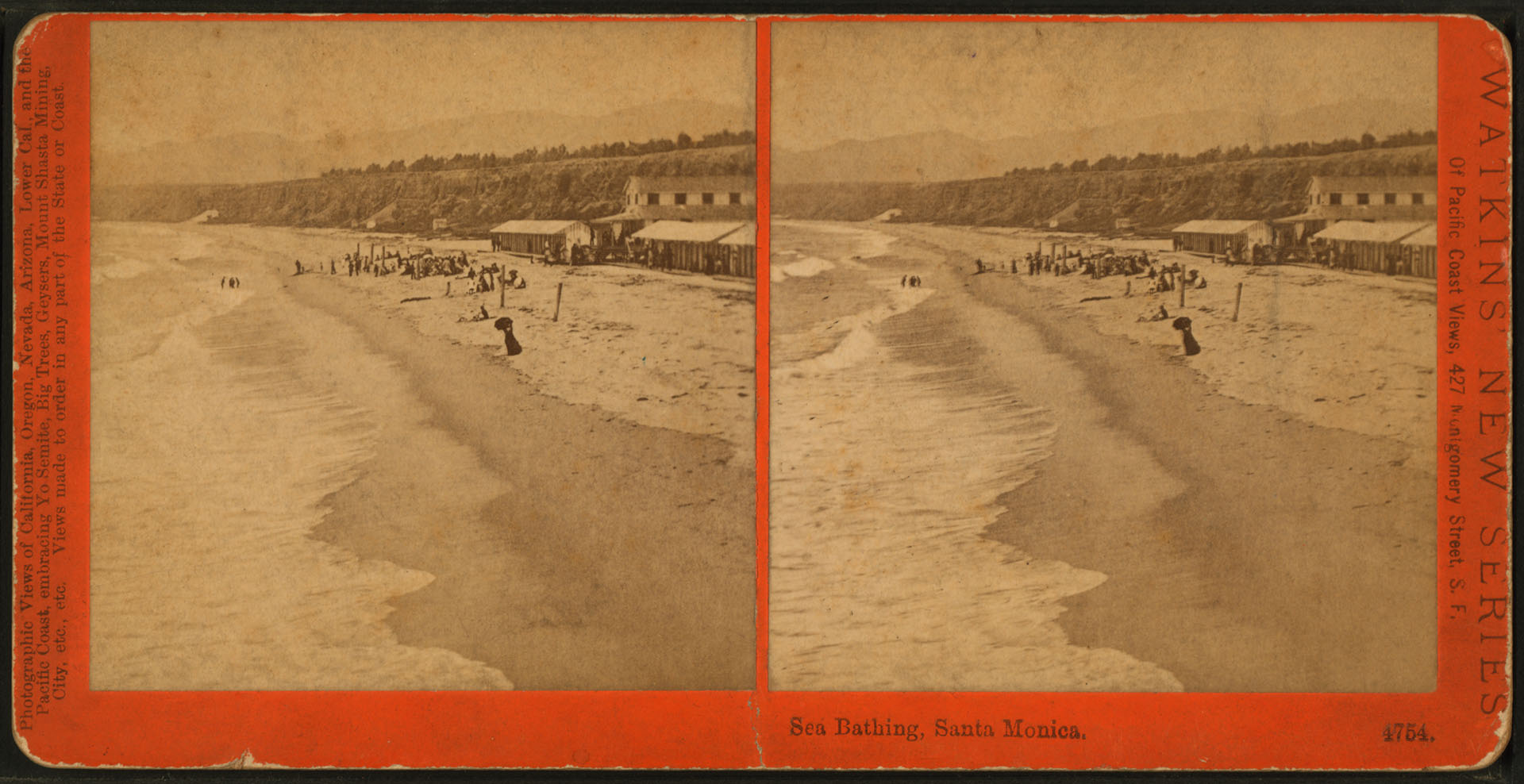 Sea Bathing, Santa Monica, Cal.