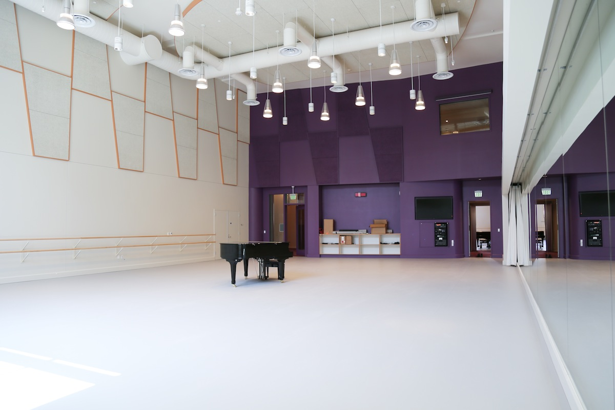 A studio inside of the USC Glorya Kaufman International Dance Center. | Photo: Celine Kiner