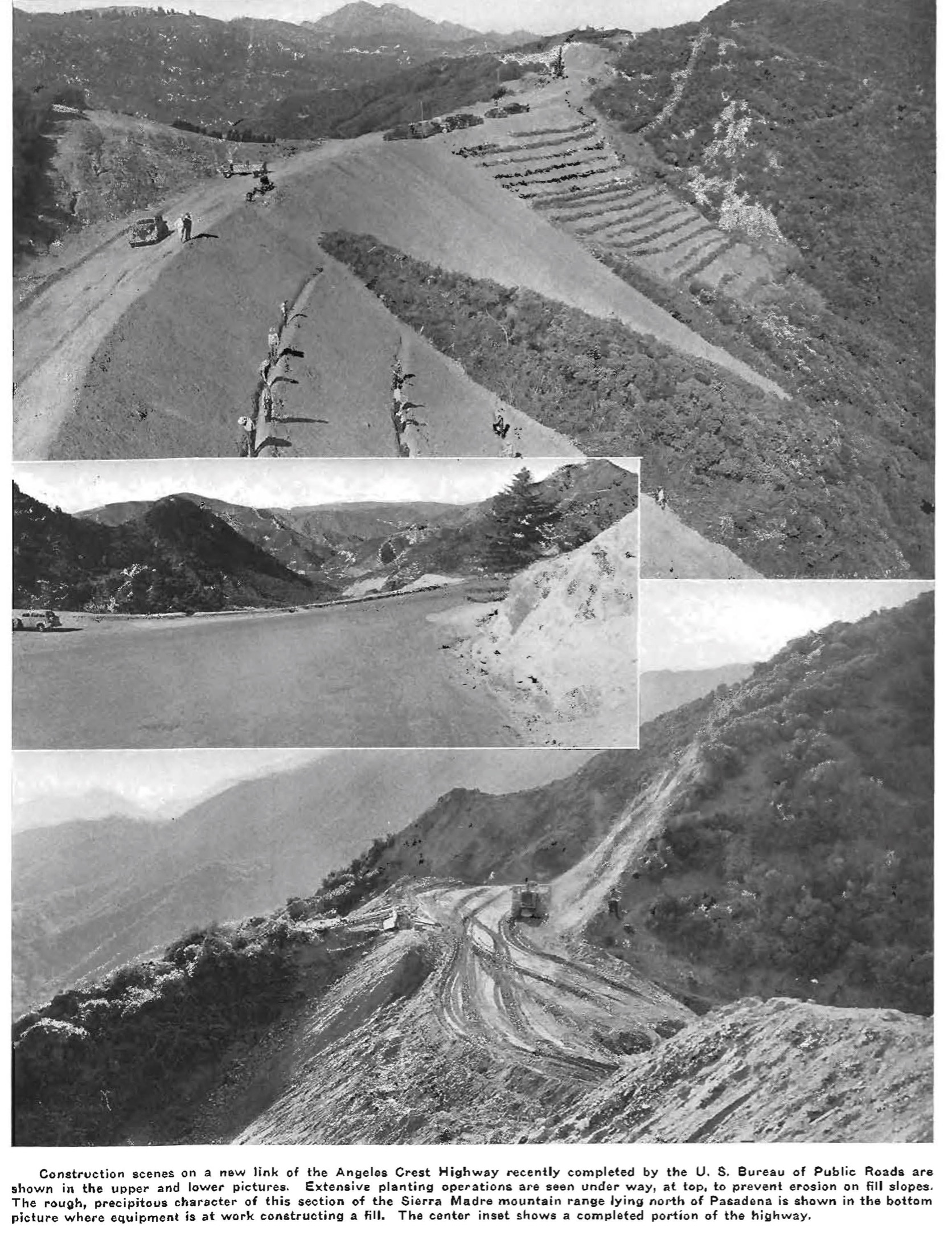 Construction of Angeles Crest Highway