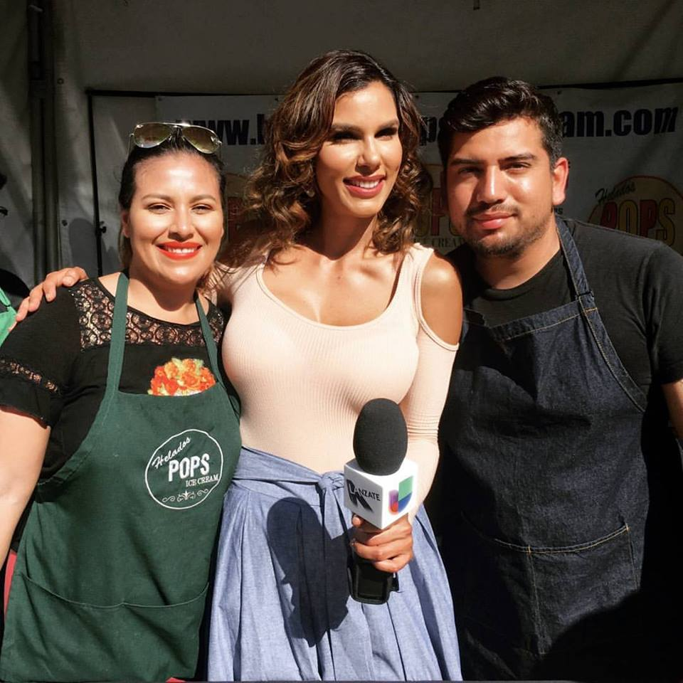 Ade Ken and Marthin Ken with Univision's Tati Polo | Courtesy of Helados Pops