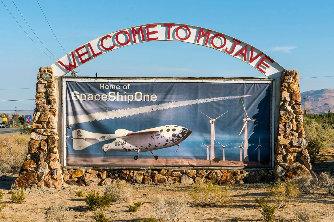 Upon entering the town of Mojave, CA (pop. 4,238) via State Route 14 motorists encounter this welcoming sign. | Kim Stringfellow